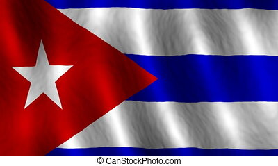 Cuba looping flag animated background