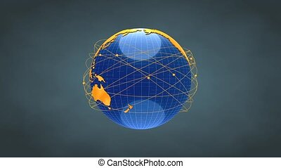 Worldwide network - Concept animation, Worldwide network.