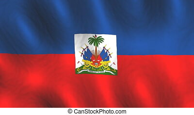 Haiti looping flag animated background