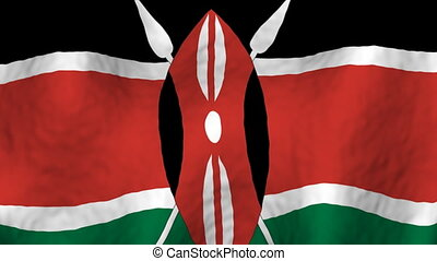 Kenya looping flag animated background
