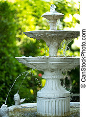 fountain multi-tiered - Decorative fountain in the garden....