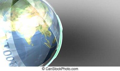 Earth inside futuristic shell