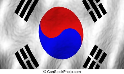 Korea looping flag animated background