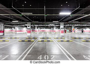 empty underground parking  - empty underground parking