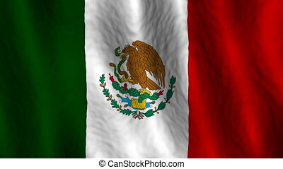 Mexico looping flag animated background