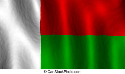 Madagascar looping flag animated background