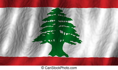 Lebanon looping flag animated background