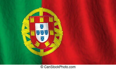 Portugal looping flag animated background