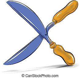 Secateurs gardeners shears vector illustration - Secateurs...