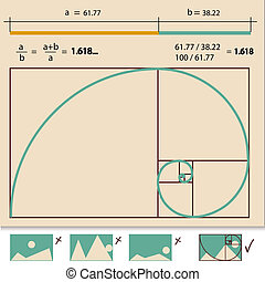 Golden Ratio, Golden Proportion vector illustration