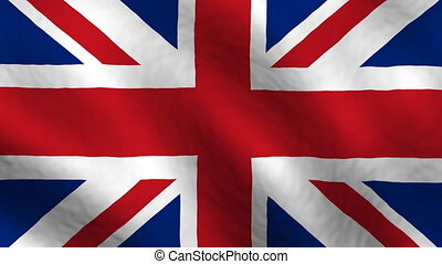 United Kingdom looping flag animated background