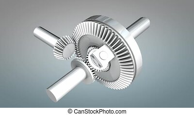 Differential gear, with alpha matte.