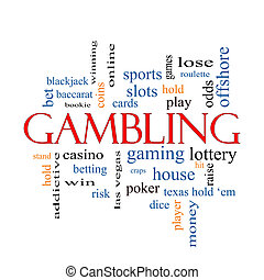Gambling Word Cloud Concept with great terms such as...