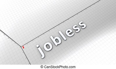 Growing chart - Jobless - Growing chart graphic animation,...