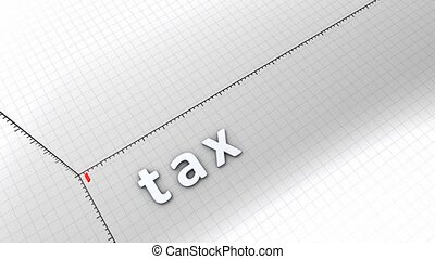 Growing chart - Tax - Growing chart graphic animation,...