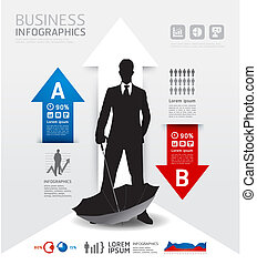 Infographics Business and financial / Vector illustration. concept