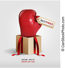 Boxing day shopping creative sale idea vector isolated on...