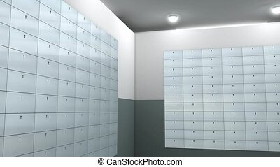 Safety deposit box - Artist rendering bank safe deposit box