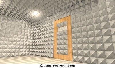 Sound proof room, anechoic chamber