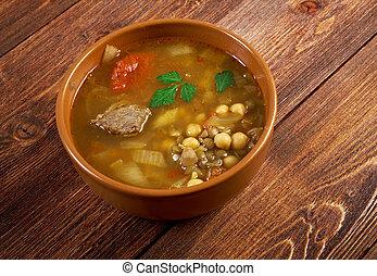 marocain, traditionnel, soupe, -, harira