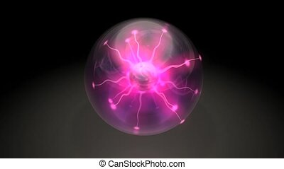 Plasma ball. With matte.