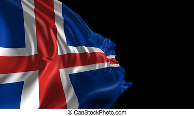Flag of Iceland - Beautiful 3d animation of Iceland flag...