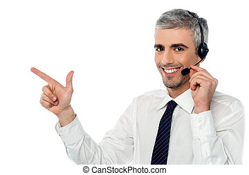 How can I assist you today - Customer service executive...