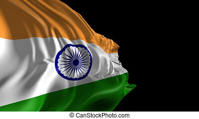 Flag of India - Beautiful 3d animation of India flag with...