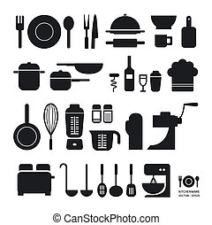 Kitchen tool icons collection can be used for infographics...