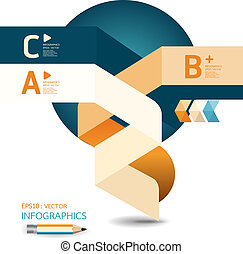 abstract Design template / can be used for infographics /...