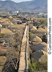 prospect of Korean Traditional old town called NakAn in...