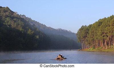 Rafting Service at Pang Ung lake, Mae Hong Son, Thailand