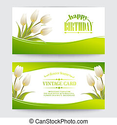Tulip spring flowers bouquet for your happy day . Vector...