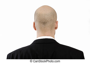 vision - Businessman with bald head from behind