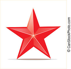 Glossy shining star toy isolated on white. Vector...