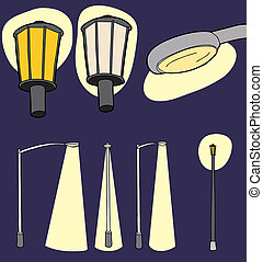 Illuminated Street Lights - Modern and vintage street lights...