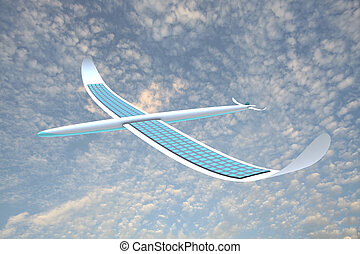 Solar energy airplane for adv or others purpose use