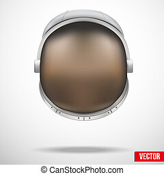 Astronaut helmet with reflection glass vector. - Astronaut...