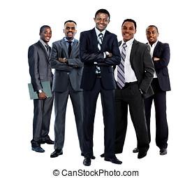 africaine, Américain, Business, équipe