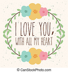 love - love design over white background vector illustration...