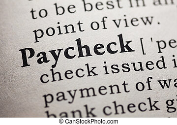 paycheck - Fake Dictionary, Dictionary definition of the...