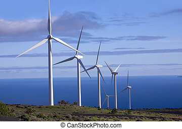 eolic generators in a wind farm