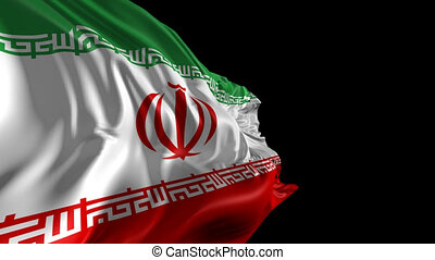 Flag of Iran - Beautiful 3d animation of Iran flag with...