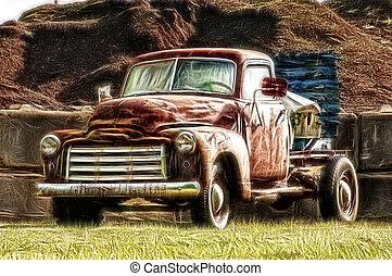 Farm Truck - A painterly look at a farm truck