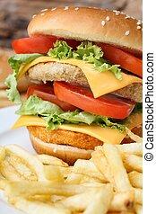 Tasty hamburger