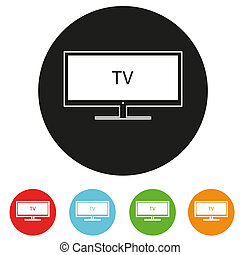 Tv sets silhouette icons for your design.