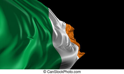 Flag of Ireland - Beautiful 3d animation of Ireland with...