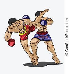 Muay thai. Martial art