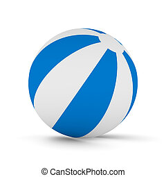 Striped ball on white background Isolated 3D image
