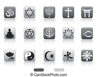 religious symbols button